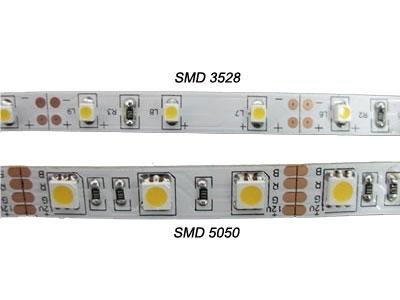 twee typen led strips